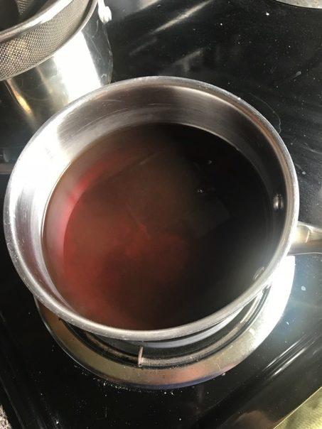 Strained stovetop yogi tea