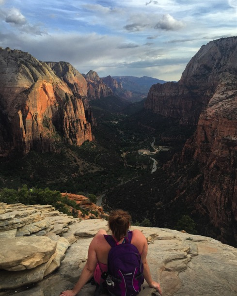 Sitting on the edge of Angels Landing in my favorite Zion National Park