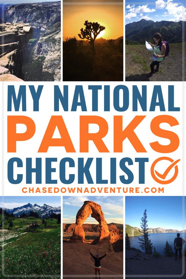 my national parks checklist